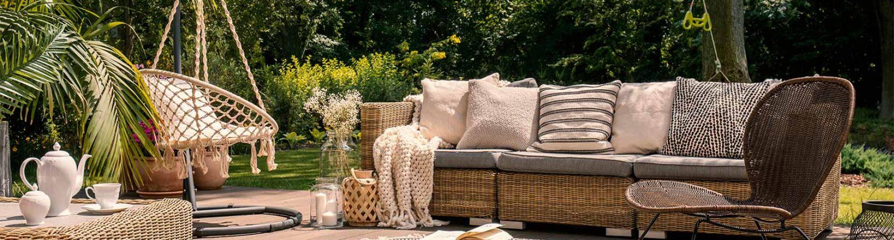 Terrasse aménagée pour l'été